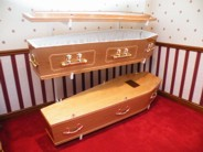 Traditional wooden coffins