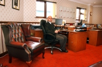 Funeral Director Simon Tucker in our offices at 11 Wellbrook Street